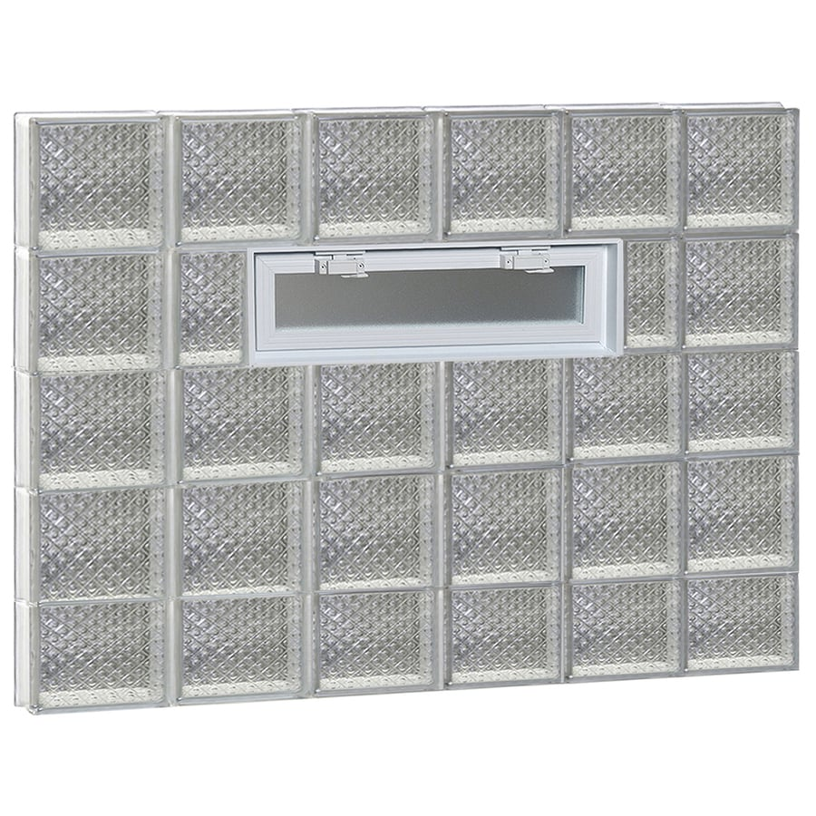 REDI2SET Diamond Glass Pattern Frameless Replacement Glass Block Window (Rough Opening: 48-in x 38-in; Actual: 46.5-in x 36.75-in)