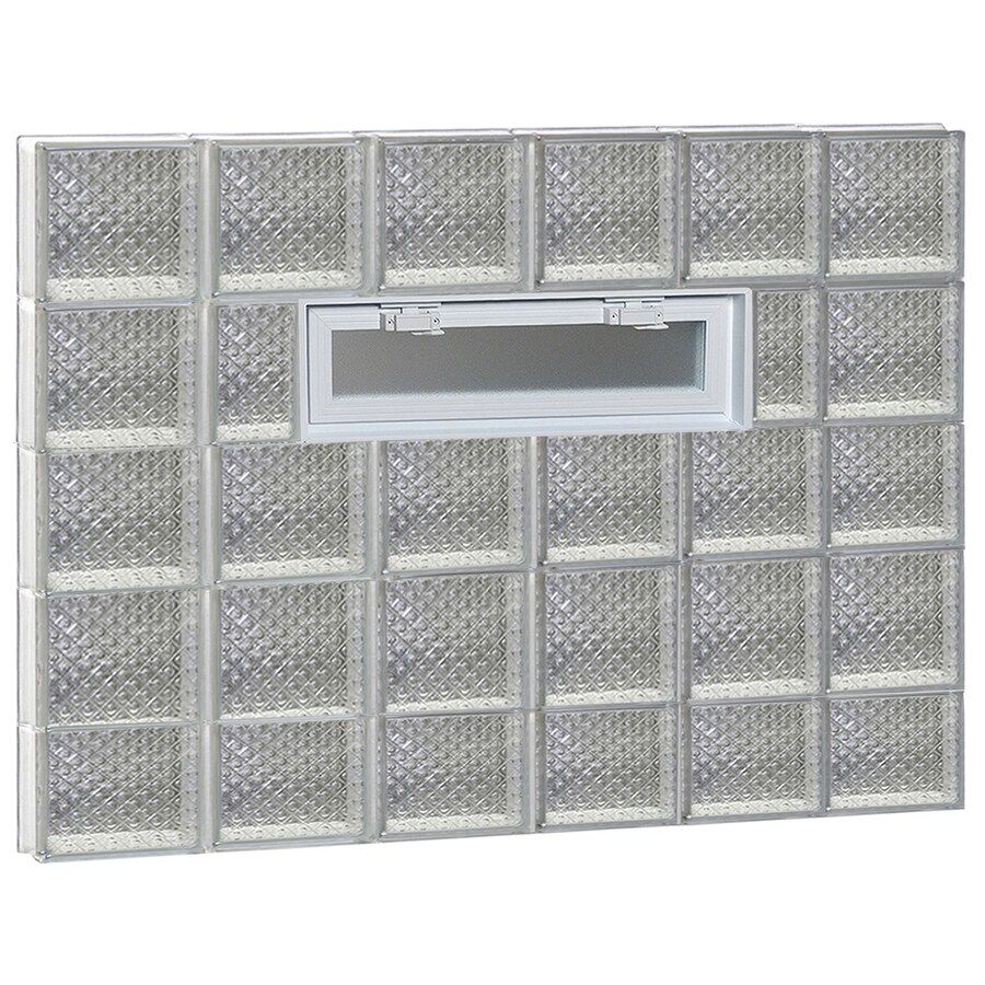 REDI2SET Diamond Pattern Frameless Replacement Glass Block Window (Rough Opening: 48-in x 38-in; Actual: 46.5-in x 36.75-in)