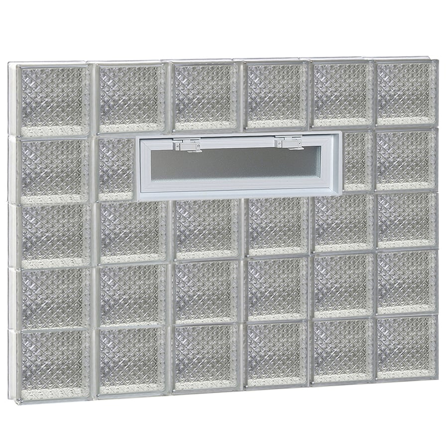 REDI2SET Diamond Pattern Frameless Replacement Glass Block Window (Rough Opening: 48-in x 40-in; Actual: 46.5-in x 38.75-in)