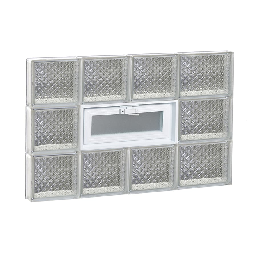 REDI2SET Diamond Pattern Frameless Replacement Glass Block Window (Rough Opening: 26-in x 18-in; Actual: 25-in x 17.25-in)