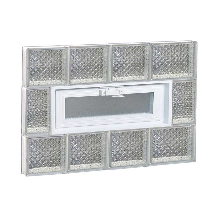 REDI2SET Diamond Glass Pattern Frameless Replacement Glass Block Window (Rough Opening: 26-in x 20-in; Actual: 25-in x 19.2500-in)