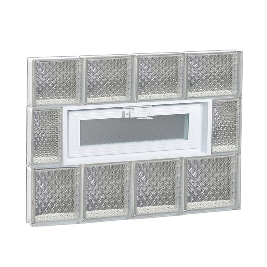 REDI2SET Diamond Glass Pattern Frameless Replacement Glass Block Window (Rough Opening: 26-in x 22-in; Actual: 25-in x 21.25-in)