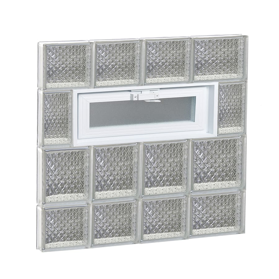 REDI2SET Diamond Glass Pattern Frameless Replacement Glass Block Window (Rough Opening: 26-in x 28-in; Actual: 25-in x 27-in)