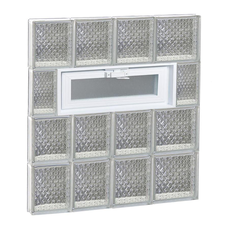 REDI2SET Diamond Pattern Frameless Replacement Glass Block Window (Rough Opening: 26-in x 32-in; Actual: 25-in x 31-in)