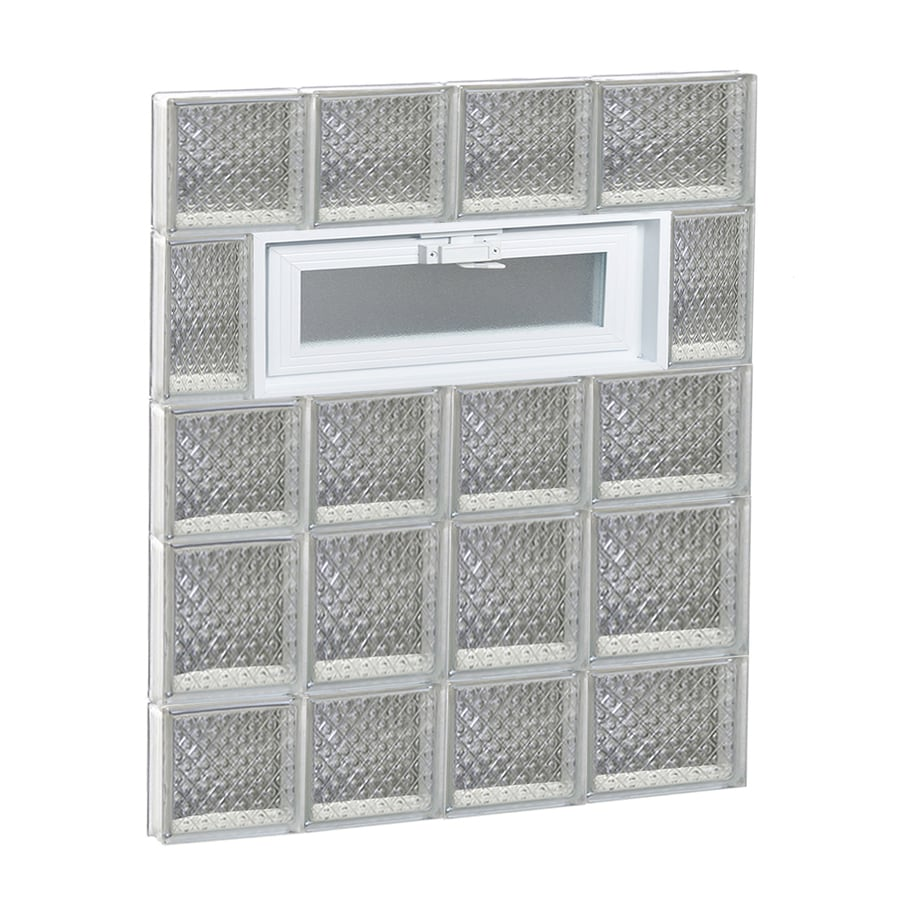 REDI2SET Diamond Pattern Frameless Replacement Glass Block Window (Rough Opening: 26-in x 34-in; Actual: 25-in x 32.75-in)