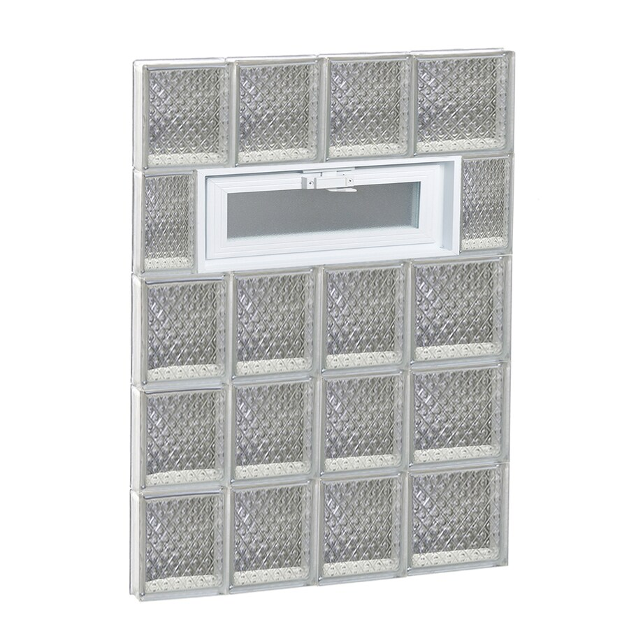 REDI2SET Diamond Pattern Frameless Replacement Glass Block Window (Rough Opening: 26-in x 40-in; Actual: 25-in x 38.75-in)