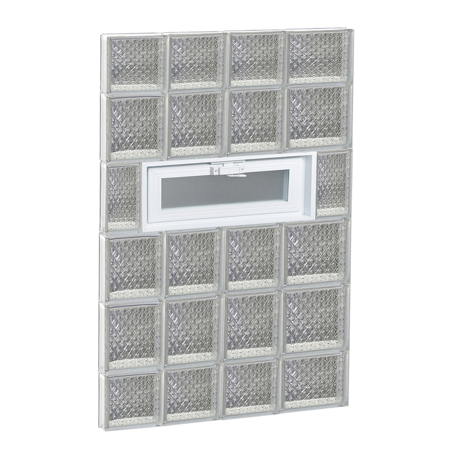 REDI2SET Diamond Pattern Frameless Replacement Glass Block Window (Rough Opening: 26-in x 44-in; Actual: 25-in x 42.5-in)