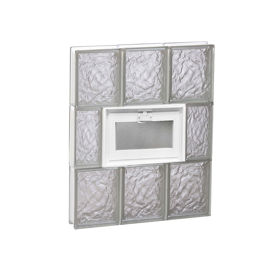 REDI2SET Ice Glass Pattern Frameless Replacement Glass Block Window (Rough Opening: 18-in x 24-in; Actual: 17.25-in x 23.25-in)
