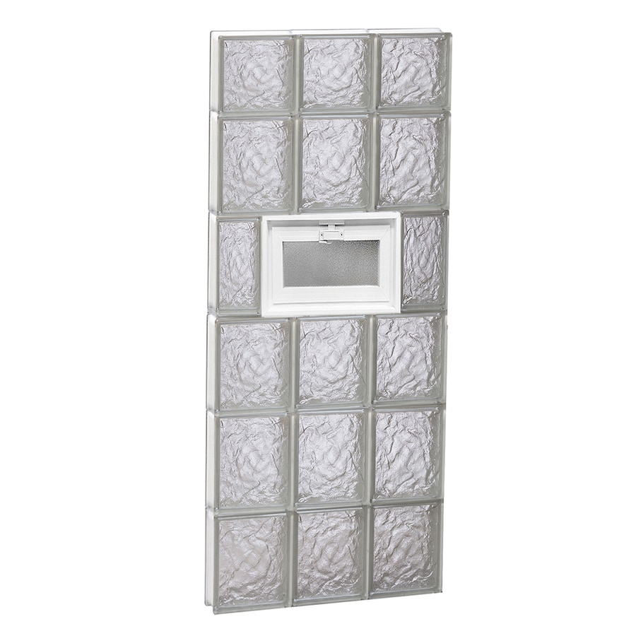 REDI2SET Ice Glass Pattern Frameless Replacement Glass Block Window (Rough Opening: 18-in x 46-in; Actual: 17.25-in x 44.5-in)