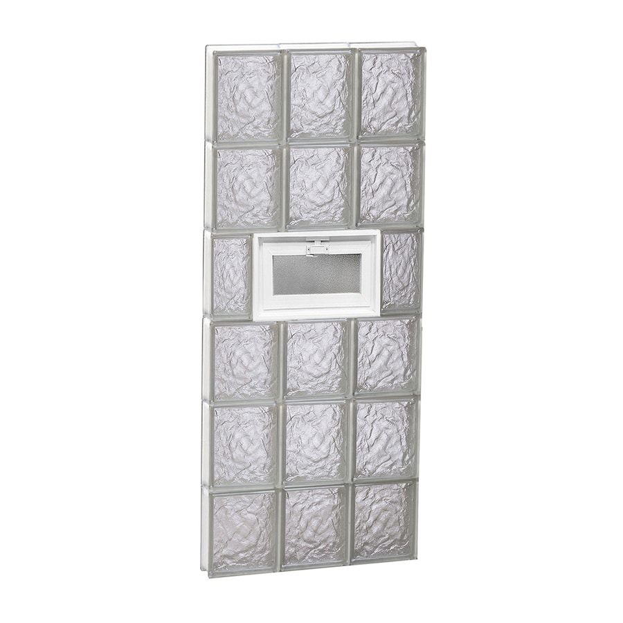 REDI2SET Ice Glass Pattern Frameless Replacement Glass Block Window (Rough Opening: 18-in x 48-in; Actual: 17.25-in x 46.5-in)
