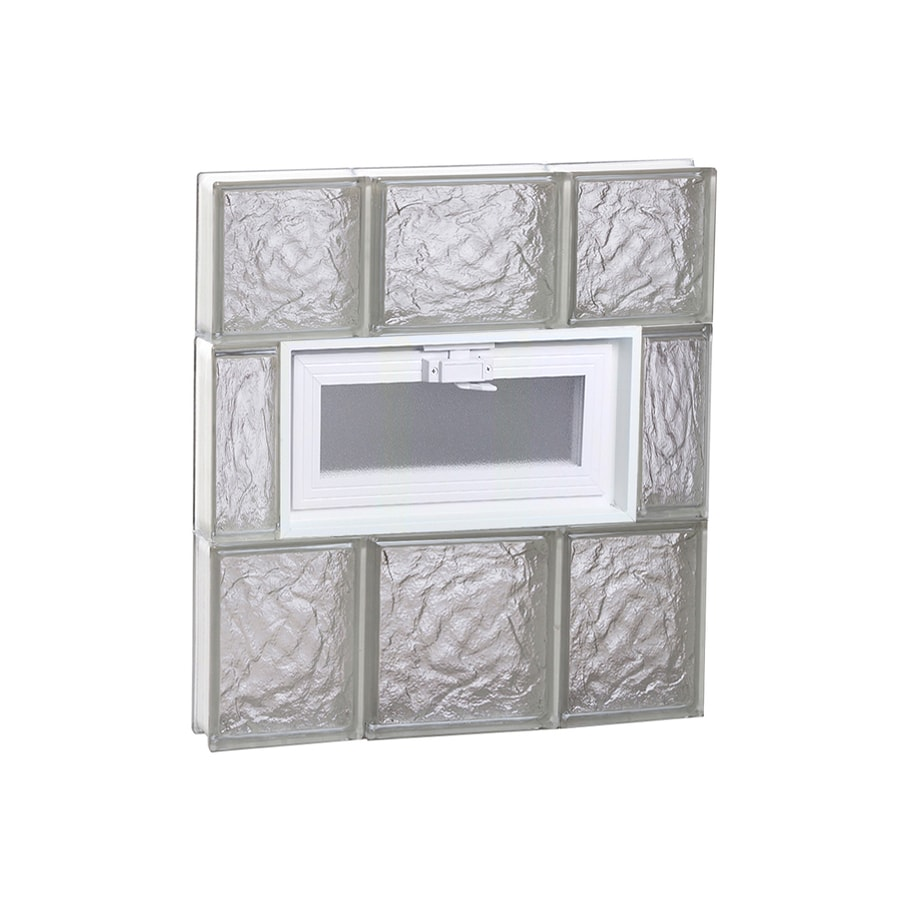 REDI2SET Ice Glass Frameless Replacement Glass Block Window (Rough Opening: 20-in x 22-in; Actual: 19.25-in x 21.25-in)