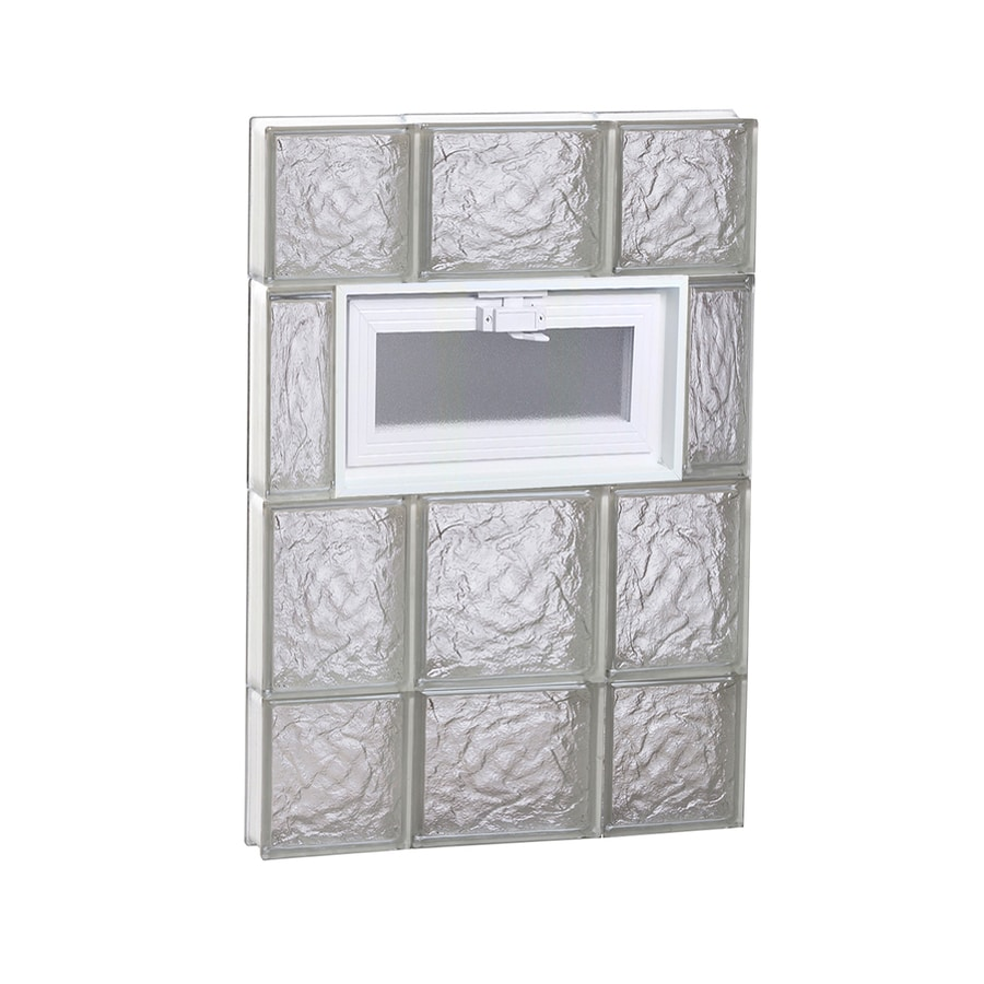 REDI2SET Ice Glass Pattern Frameless Replacement Glass Block Window (Rough Opening: 20-in x 28-in; Actual: 19.2500-in x 27-in)