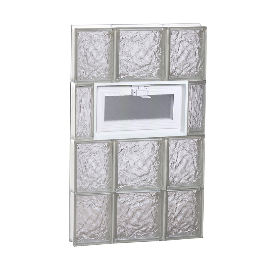 REDI2SET Ice Glass Frameless Replacement Glass Block Window (Rough Opening: 20-in x 32-in; Actual: 19.25-in x 31-in)