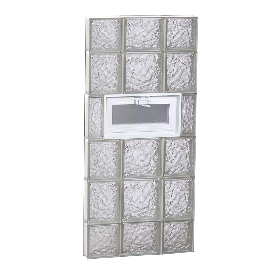 REDI2SET Ice Glass Pattern Frameless Replacement Glass Block Window (Rough Opening: 20-in x 44-in; Actual: 19.25-in x 42.5-in)