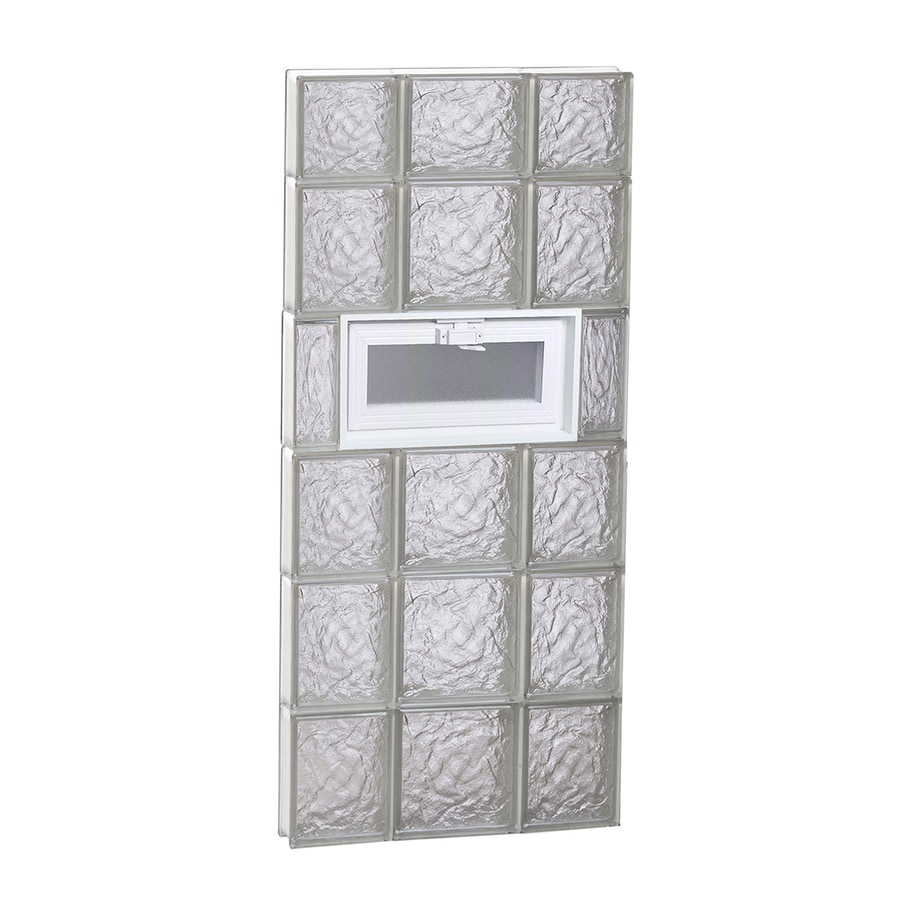 REDI2SET Ice Glass Pattern Frameless Replacement Glass Block Window (Rough Opening: 20-in x 46-in; Actual: 19.25-in x 44.5-in)