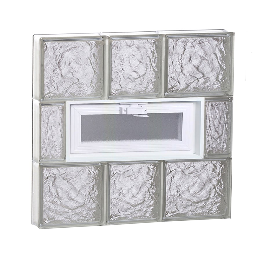 REDI2SET Ice Glass Pattern Frameless Replacement Glass Block Window (Rough Opening: 22-in x 24-in; Actual: 21.25-in x 23.25-in)