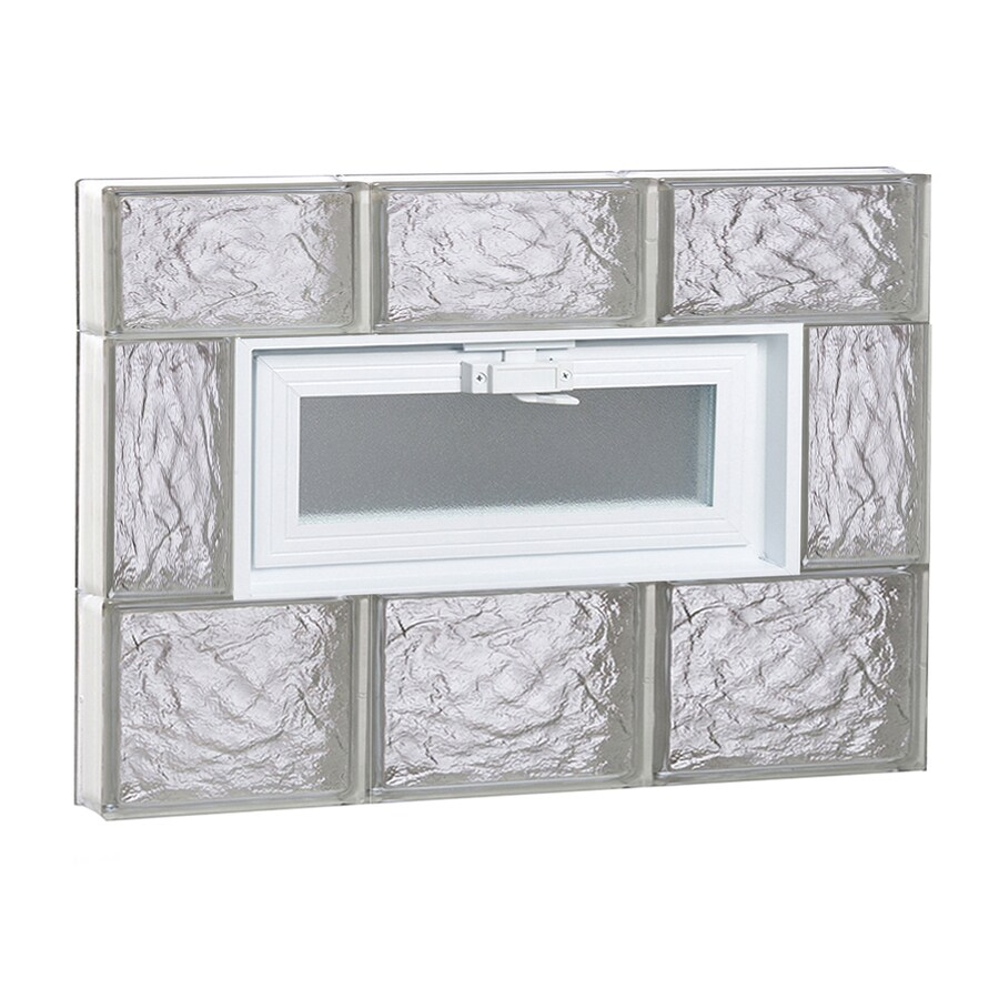 REDI2SET Ice Glass Pattern Frameless Replacement Glass Block Window (Rough Opening: 24-in x 18-in; Actual: 23.25-in x 17.25-in)