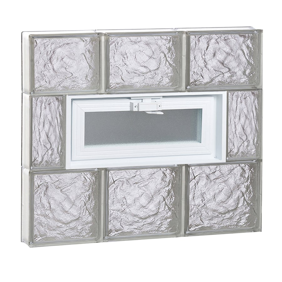REDI2SET Ice Pattern Frameless Replacement Glass Block Window (Rough Opening: 24-in x 22-in; Actual: 23.25-in x 21.25-in)