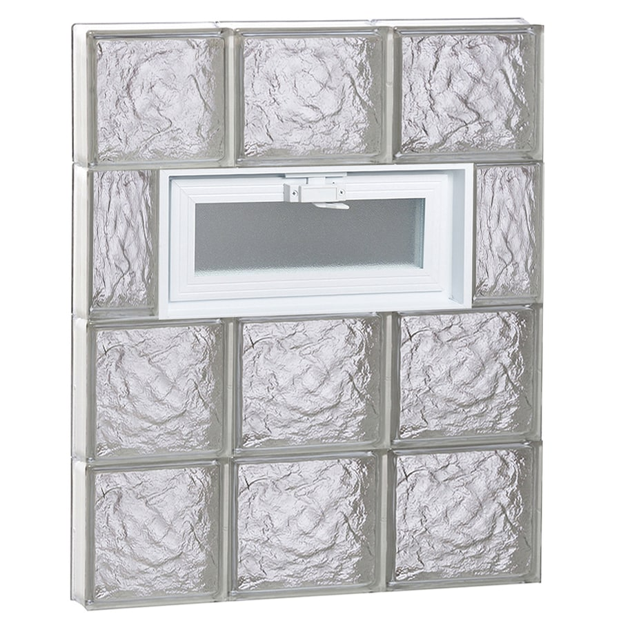 REDI2SET Ice Glass Pattern Frameless Replacement Glass Block Window (Rough Opening: 24-in x 32-in; Actual: 23.2500-in x 31-in)