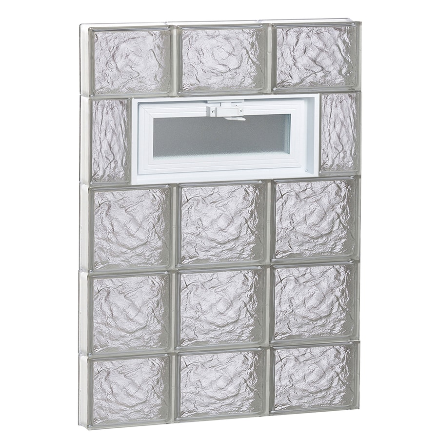 REDI2SET Ice Glass Pattern Frameless Replacement Glass Block Window (Rough Opening: 24-in x 36-in; Actual: 23.25-in x 34.75-in)