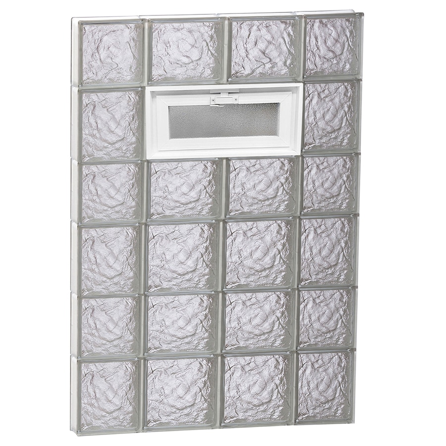REDI2SET Ice Glass Pattern Frameless Replacement Glass Block Window (Rough Opening: 28-in x 42-in; Actual: 27-in x 40.5-in)
