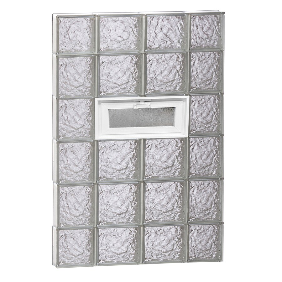 REDI2SET Ice Glass Pattern Frameless Replacement Glass Block Window (Rough Opening: 28-in x 44-in; Actual: 27-in x 42.5-in)