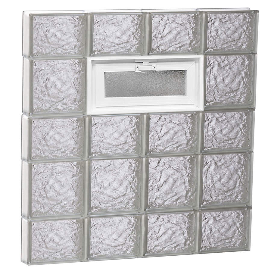 REDI2SET Ice Pattern Frameless Replacement Glass Block Window (Rough Opening: 32-in x 34-in; Actual: 31-in x 32.75-in)