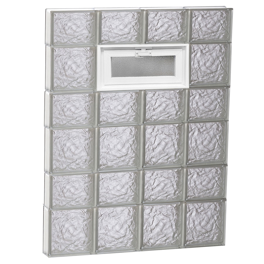 REDI2SET Ice Glass Pattern Frameless Replacement Glass Block Window (Rough Opening: 32-in x 42-in; Actual: 31-in x 40.5-in)
