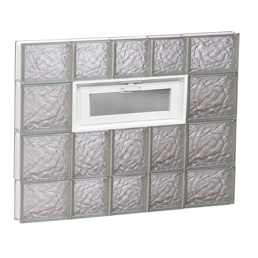 REDI2SET Ice Pattern Frameless Replacement Glass Block Window (Rough Opening: 34-in x 28-in; Actual: 32.75-in x 27-in)