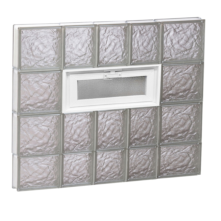 REDI2SET Ice Pattern Frameless Replacement Glass Block Window (Rough Opening: 34-in x 30-in; Actual: 32.75-in x 29-in)