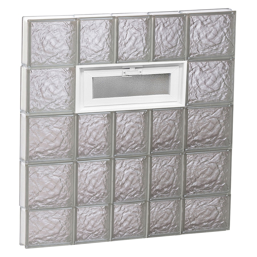 REDI2SET Ice Pattern Frameless Replacement Glass Block Window (Rough Opening: 34-in x 38-in; Actual: 32.75-in x 36.75-in)