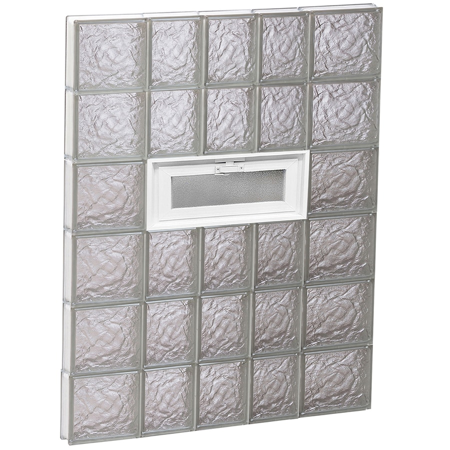 REDI2SET Ice Glass Pattern Frameless Replacement Glass Block Window (Rough Opening: 34-in x 48-in; Actual: 32.75-in x 46.5-in)