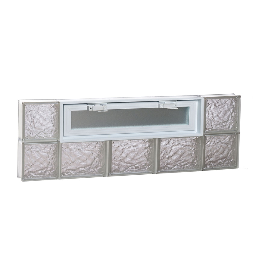 REDI2SET Ice Pattern Frameless Replacement Glass Block Window (Rough Opening: 36-in x 12-in; Actual: 34.75-in x 11.5-in)