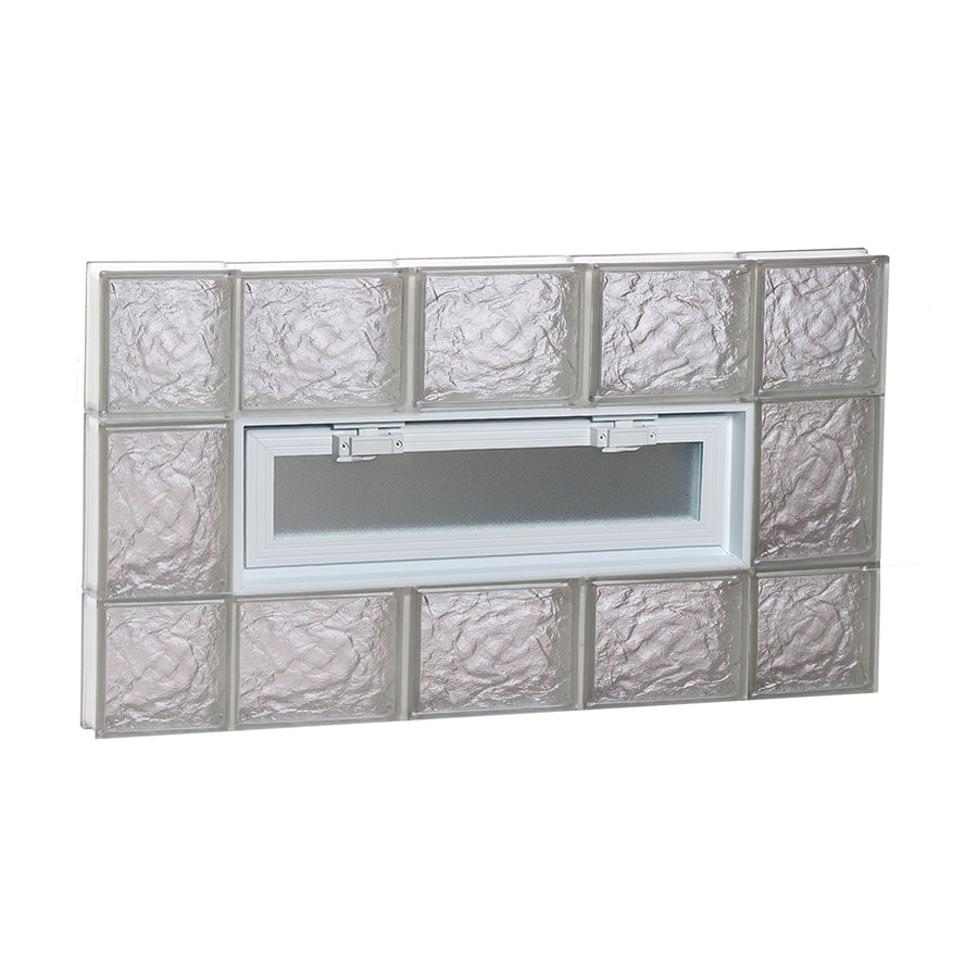 REDI2SET Ice Pattern Frameless Replacement Glass Block Window (Rough Opening: 36-in x 20-in; Actual: 34.75-in x 19.25-in)