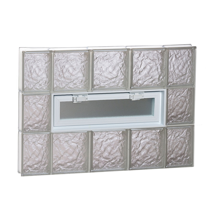 REDI2SET Ice Glass Pattern Frameless Replacement Glass Block Window (Rough Opening: 36-in x 24-in; Actual: 34.75-in x 23.25-in)