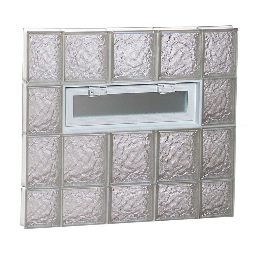 REDI2SET Ice Pattern Frameless Replacement Glass Block Window (Rough Opening: 36-in x 30-in; Actual: 34.75-in x 29-in)