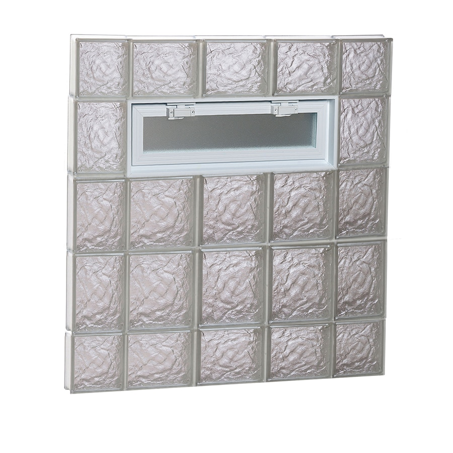 REDI2SET Ice Glass Pattern Frameless Replacement Glass Block Window (Rough Opening: 36-in x 36-in; Actual: 34.75-in x 34.75-in)