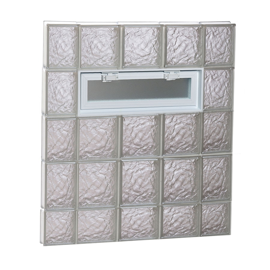 REDI2SET Ice Glass Pattern Frameless Replacement Glass Block Window (Rough Opening: 36-in x 38-in; Actual: 34.75-in x 36.75-in)