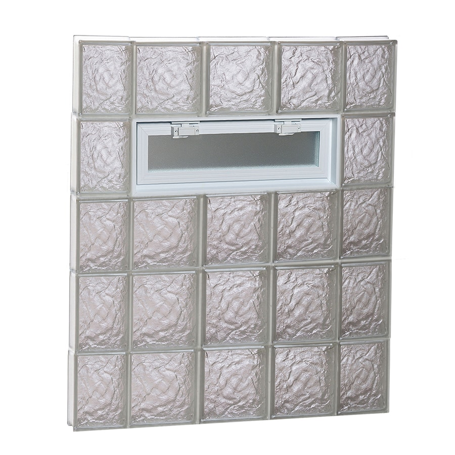REDI2SET Ice Glass Pattern Frameless Replacement Glass Block Window (Rough Opening: 36-in x 40-in; Actual: 34.75-in x 38.75-in)