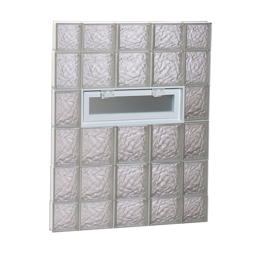 REDI2SET Ice Glass Pattern Frameless Replacement Glass Block Window (Rough Opening: 36-in x 44-in; Actual: 34.75-in x 42.5-in)