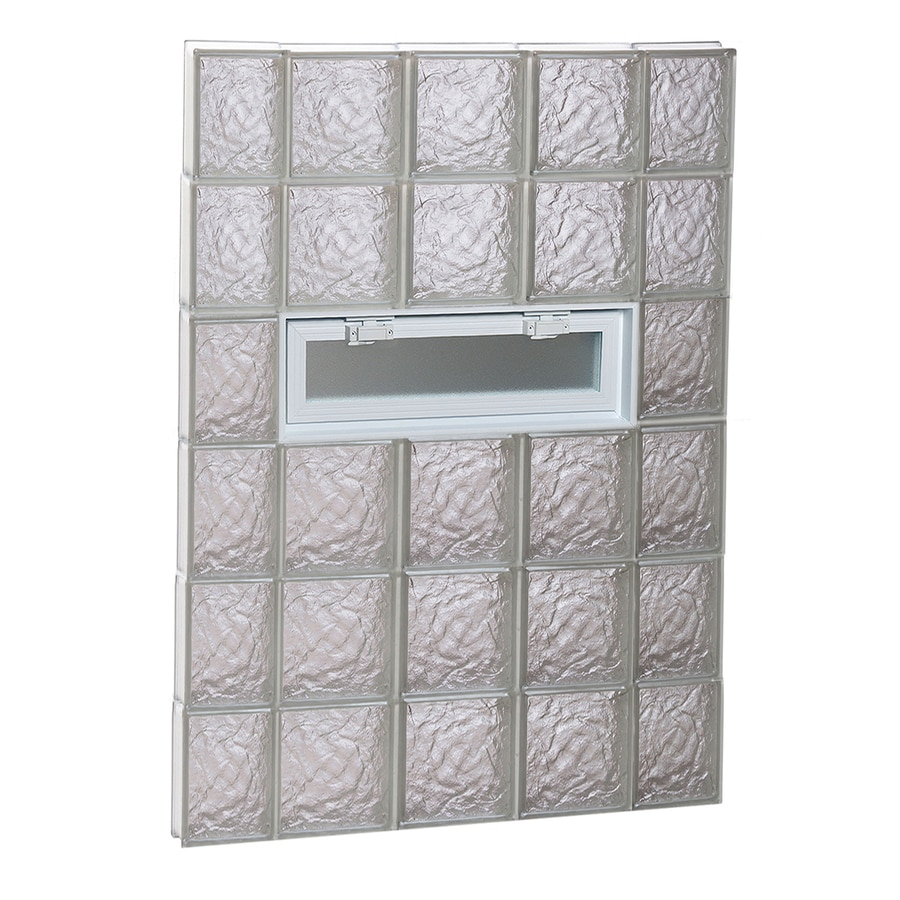 REDI2SET Ice Pattern Frameless Replacement Glass Block Window (Rough Opening: 36-in x 48-in; Actual: 34.75-in x 46.5-in)