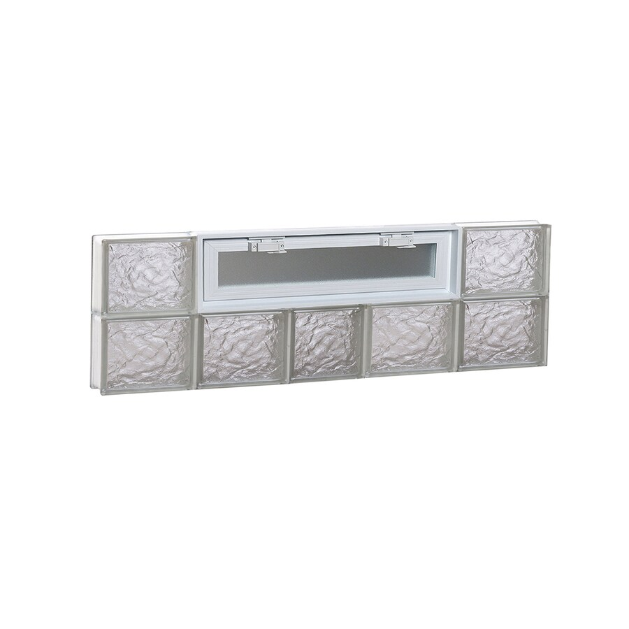 REDI2SET Ice Pattern Frameless Replacement Glass Block Window (Rough Opening: 38-in x 12-in; Actual: 36.75-in x 11.5-in)