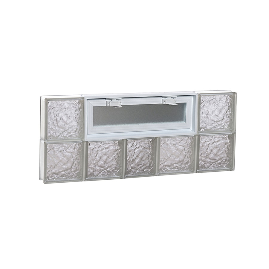 REDI2SET Ice Glass Pattern Frameless Replacement Glass Block Window (Rough Opening: 38-in x 16-in; Actual: 36.75-in x 15.5-in)