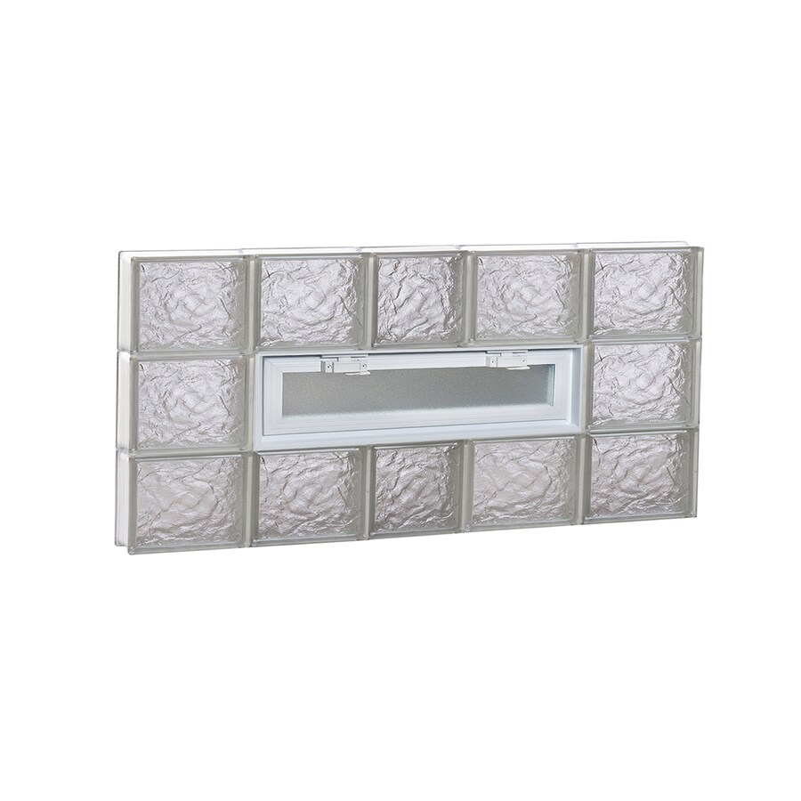 REDI2SET Ice Pattern Frameless Replacement Glass Block Window (Rough Opening: 38-in x 18-in; Actual: 36.75-in x 17.25-in)