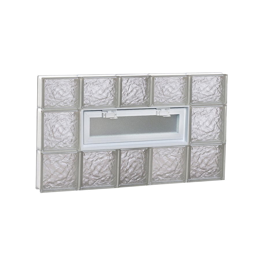 REDI2SET Ice Pattern Frameless Replacement Glass Block Window (Rough Opening: 38-in x 22-in; Actual: 36.75-in x 21.25-in)