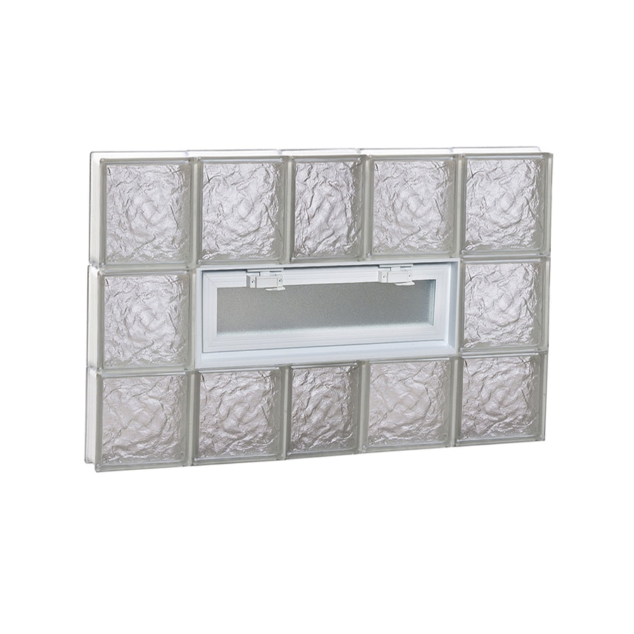 REDI2SET Ice Pattern Frameless Replacement Glass Block Window (Rough Opening: 38-in x 24-in; Actual: 36.75-in x 23.25-in)