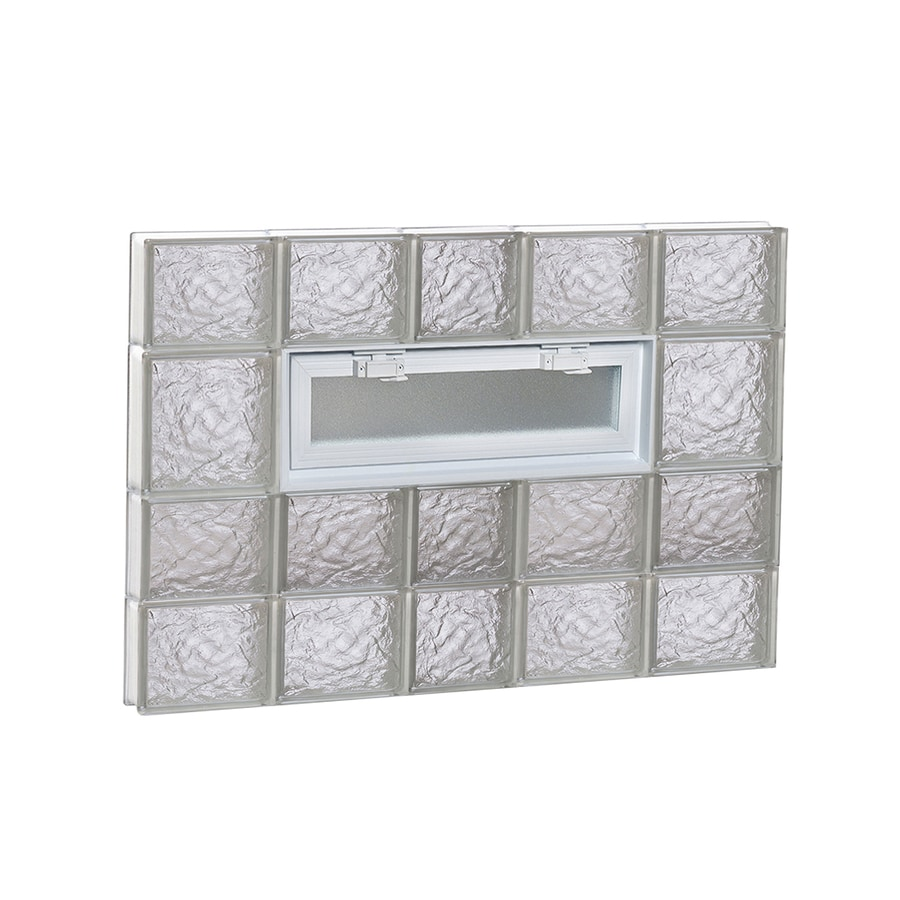 REDI2SET Ice Glass Pattern Frameless Replacement Glass Block Window (Rough Opening: 38-in x 26-in; Actual: 36.75-in x 25-in)