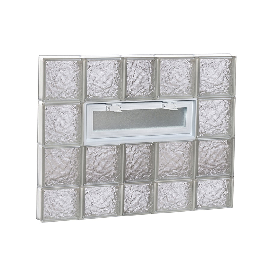 REDI2SET Ice Glass Pattern Frameless Replacement Glass Block Window (Rough Opening: 38-in x 30-in; Actual: 36.75-in x 29-in)