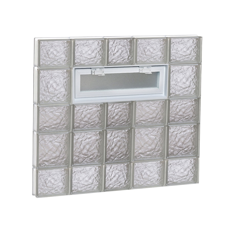 REDI2SET Ice Glass Pattern Frameless Replacement Glass Block Window (Rough Opening: 38-in x 34-in; Actual: 36.75-in x 32.75-in)