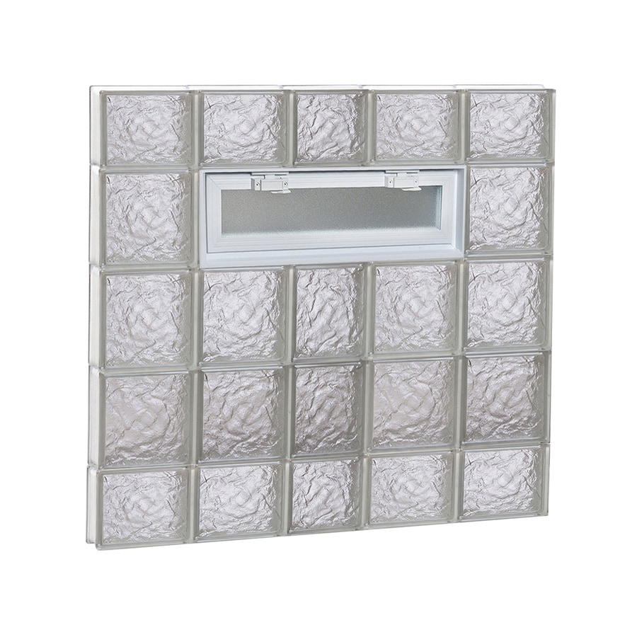 REDI2SET Ice Glass Pattern Frameless Replacement Glass Block Window (Rough Opening: 38-in x 36-in; Actual: 36.75-in x 34.75-in)